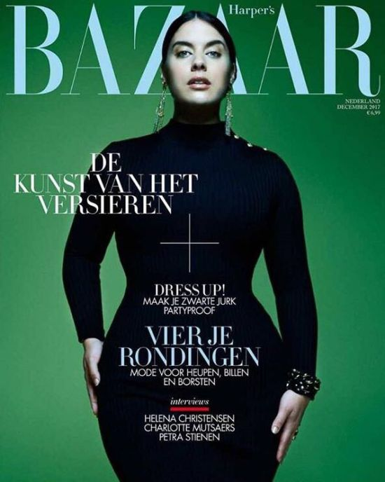 Jan & Jorre celebrate curves in Harper's Bazaar